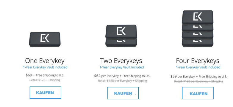 Everykey password manager